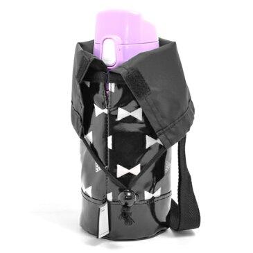 水筒カバー スモールタイプ リボンシルエット (水筒 カバー ショルダー 子供 500ml 水筒ケース キッズ ジュニア 小学生 幼稚園 入園グッズ 入園準備 入学祝い 女の子)