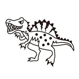 お名前スタンプ (安心スタンダード 15本セット)スピノサウルス 子供用 入園準備 入学準備 名前スタンプ 入園 なまえスタンプ セット 入園 お名前はんこ ひらがな