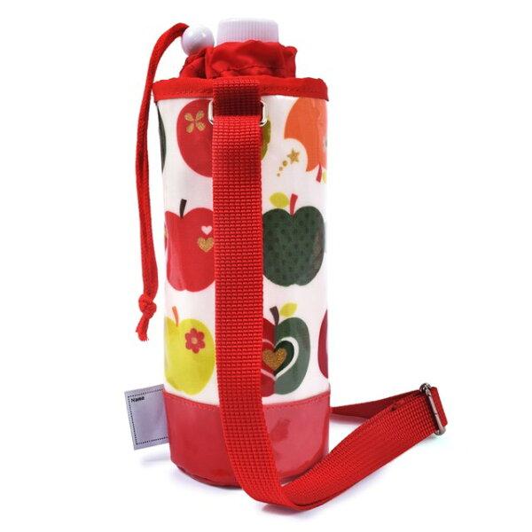 ペットボトルホルダーラミネートおしゃれリンゴのひみつ(アイボリー)子供用水筒カバー子供水筒ホルダーペットボトルホルダーショルダー