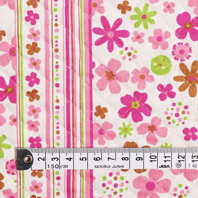 スカンジナビアのフラワーパーク(ピンク) キルティング生地 入園入学 入園準備 入学準備 入園グッズ 手作り 女の子
