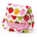 ベビーショルダーバッグスイートストロベリーコレクション(アイボリー)(お出かけ赤ちゃん外出 バッグおでかけバックベビーポシェットななめがけポーチ赤ちゃんベビー新生児出産祝いギフト女の子 いちご)