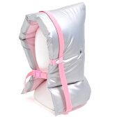 防災頭巾(椅子固定ゴム付き) 防炎シルバータイプ(ピンク)