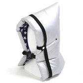 防災頭巾(椅子固定ゴム付き) 防炎シルバータイプ(シューティングスター)