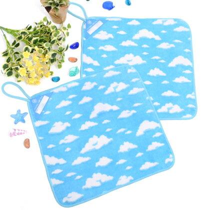ループタオルお揃い2青い空に白い雲日本製