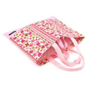 入園入学セット 子供用 キルティング レッスンバッグ シューズケース 入園 バッグ セット 幼稚園 入園グッズ 入学準備 袋 セット 入学 レッスンバッグ セット 巾着袋 入園 スカンジナビアのフラワーパーク(ピンク) ピンク 女の子