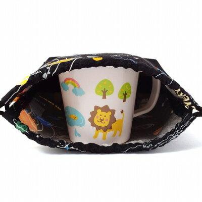 巾着・小太陽系惑星とコスモプラネタリウム(ブラック)×オックス・黒日本製