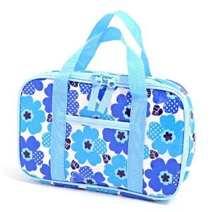 裁縫セット ソーイングセット   ノルディックフラワー・ブルー 日本製 【おけいこバッグ さい…