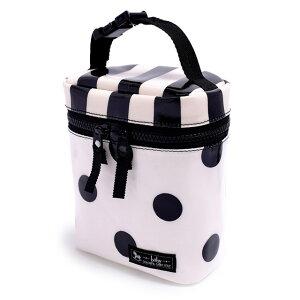 マグポーチ・ケース(ショルダータイプ) polka dot large(twill・white)【ほ乳瓶ポーチ 保温・保冷マグボトルケース】(赤ちゃん ベビー 出産祝い男の子 女の子)