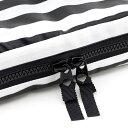 お食事セットポーチ wide stripe(broadcloth・black)【カトラリー入れ】(赤ちゃん ベビー 出産祝い男の子 女の子) 3