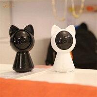 防犯カメラ家庭用見守りカメラワイヤレス屋内SDカードベビーモニターペットモニター赤ちゃん無線送料無料猫型cat-camera