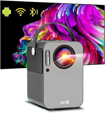小型 プロジェクター 携帯 Artlii play Android TV搭載 モバイルプロジェクター WiFi スマホに直接接続 Bluetooth機能 4K対応 ポータブル 持ち運び 内蔵スピーカー 4D台形補正 3年保証 art-play