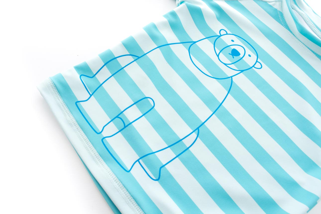 【Sandiaサンディア】子供水着男の子ラッシュガードセットしろくまイラスト