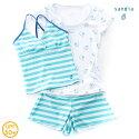【Sandiaサンディア】ジュニア水着女の子セパレートラッシュTシャツ付きしろくま