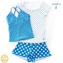 【Sandiaサンディア】ジュニア水着女の子セパレートラッシュTシャツ付き水玉