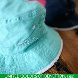 BENETTON UV マリンハット キッズ 子供 首回りガード付き 帽子 ハット