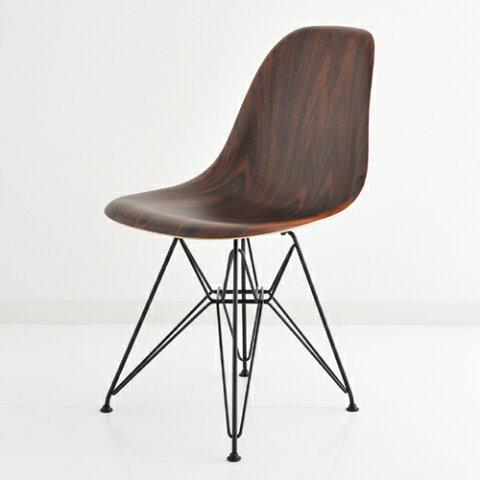 ハーマンミラー イームズウッドシェルチェア サントスパリサンダー×ブラックベース E5-3 Herman Miller Eames Shell Side Chairs DWSR DWSRBK9N 【送料無料】_dp05