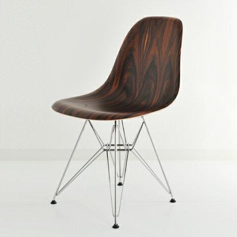 ハーマンミラー イームズウッドシェルチェア サントスパリサンダー×クロームベース E5-4 Herman Miller Eames Shell Side Chairs DWSR DWSR479N 【送料無料】_dp05
