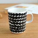 マリメッコ マグカップ 250ml シイルトラプータルハ ドット柄 ホワイト×ブラック (99) marimekko Siirtolapuutarha [63296] _dp10