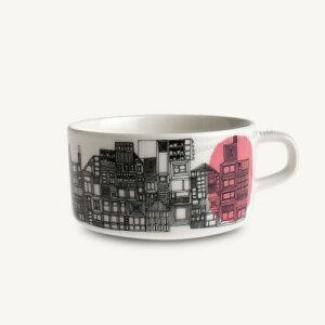 marimekko SIIRTOLAPUUTARHA ティーカップ/絵柄(ホワイト×ブラック×ピンク) 73(194)【63295】マリメッコ シイルトラプータルハ