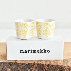 marimekkoVIHKIRUUSUラテマグ2個セットイエロー55【69550】マリメッコヴィヒキルース