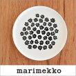 marimekkoPUKETTI20cm丸型プレート/モノトーン・ホワイトベース90(190)【68356】マリメッコプケッティ_n