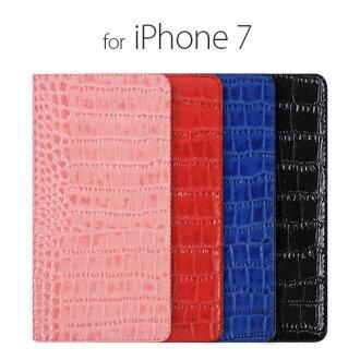 iphone7 案例日記凝視生動鱷魚真皮 iphone 案例 7 iphone7 皮夾子類型 iphone 7 案例手冊 iphone7 筆記本外殼日記 iphone7 封面筆記本雙關 smahocase iPhone iPhone