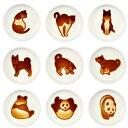ネコ醤油皿ネコ醤油小皿イヌ醤油皿パンダ醤油皿6種セット可愛い小皿ネコ好きい...
