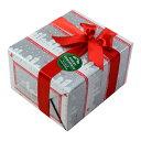 [大切な人へ贈る]クリスマス用ギフトラッピング No17×ホワイトクリスマス×レッドリボン