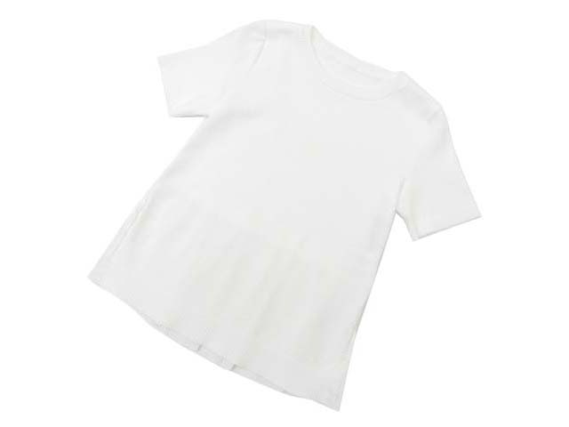 FOXEY BOUTIQUE 36847 Pleated Back Hemknit Top ホワイト 40 S1【中古】:セレブbyエンデバー
