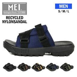 メイ MEI エムイーアイ サンダル 厚底 メンズ カバードサンダル サンダル メンズ おしゃれ つっかけ 軽量 履きやすい 歩きやすい シンプル 痛くない アウトドア シャークソール サステナブル 黒 ブラック ブラウン カーキ ネイビー SDM-210006 送料無料