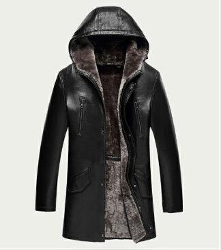 新品 セレブレザー メンズ 本革 ムートンファーボア羊皮羊毛ウールラムレザーコートフード付きパーカージャケット黒ブラックブラウン茶カーキ M-4XL JKT 革ジャン ZS9818