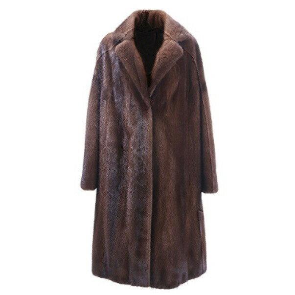 新品 セレブレザー 毛皮 オール高級リアルミンクファーロングチェスターコート 本革 レザージャケットJKT スーツ ビジネス 黒ブラック メンズ SMLXL2XL