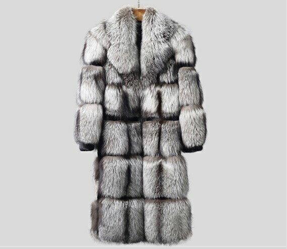 新品 セレブレザー  毛皮 オール高級リアルフォックス狐ファーロングコート 本革 レザージャケットJKT スーツ ビジネス 本色ナチュラル チェスター オーダーメイド 手作り メンズ S-3XL