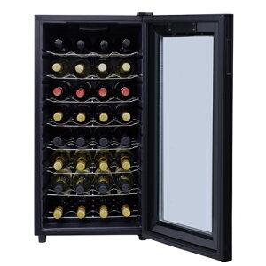 ワインセラールフィエール『LW-D32』最大収納32本本体カラー:ブラック家庭用ワインセラー【送料無料】【家庭用のワインセラー】【家庭用】【おすすめ最大32本収納ワインセラー】