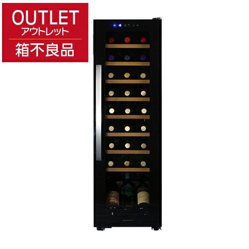 デバイスタイル WE-C27Wアウトレット 箱不良 商品良品本体カラー:ブラック 27本ワインセラー 家庭用ワインセラー deviceSTYLE コンプレッサー式 家庭用 コンパクト 加温機能付き N/B