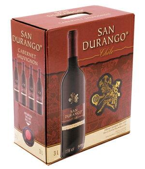 【3L】チリ産BOXワイン!750mlボトル換算すると395円♪《箱ワイン》サン・ドゥランゴ カベルネ...