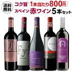 送料無料 金賞&ジェームスサックリング90点 高評価ワインてんこ盛り!超コスパ!スペイン赤ワイン5本 セット 16弾ワインセット 赤ワイン セット 長S