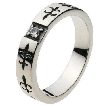 シルバーリング シルバーアクセサリー 指輪 ユリの紋章 ゆり フレア フランス王家 平打ちリング リリー フルールドリス アイリス アヤメ メンズ スペーサーリング
