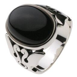 リング 指輪 シルバー925 シルバーアクセサリー シルバーリング アクセサリー ストーン オニキス 大きめ ネイティブ 伝統模様 神聖 メノウ メンズ 男性
