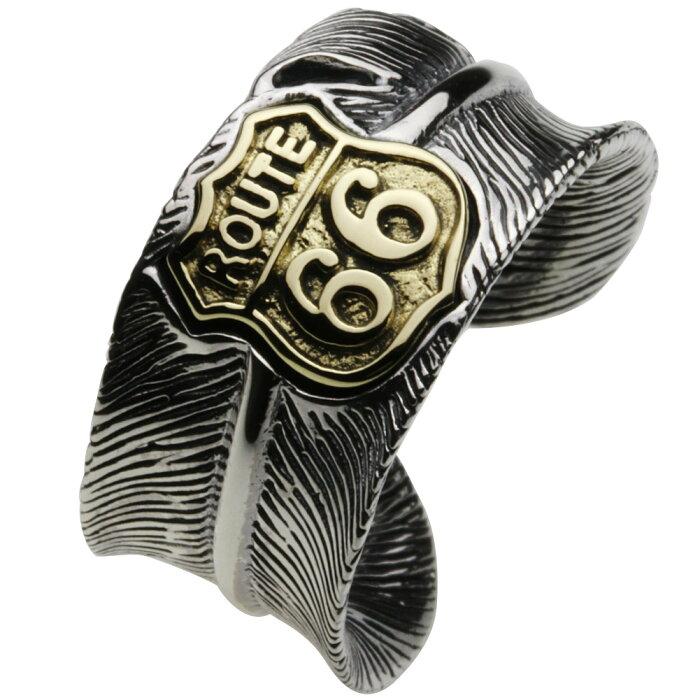 シルバーリング シルバーアクセサリー 指輪 イージーライダー ツーリング 西部開拓時代 男性用指輪 サイズ調整可能 フリーサイズ アメリカ横断 アメカジ 標識 看板 フェザーリング ネイティブ メンズ