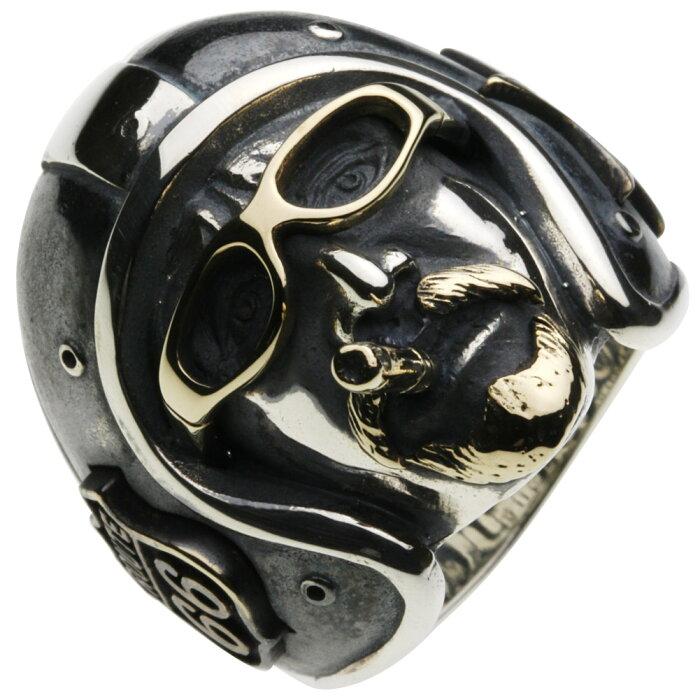 シルバーリング シルバーアクセサリー 指輪 イージーライダー ルート66 星 スター プレゼント 贈り物 メンズリング ルート66 アメリカ横断 タバコ サングラス バイクマン ヘルズエンジェル ジェットヘルメット