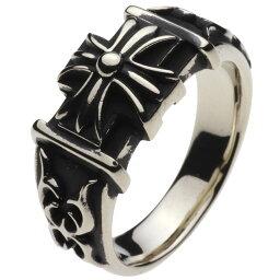 ホワイトメタルリング 指輪 メンズ 印台 ゴシックテイスト エタニティ 男性用指輪 十字架 クロス フローラル 蔦 ツタ 植物