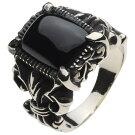 ホワイトメタルアクセサリーリング・指輪ゴシックリリーリングr5024