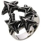 【ホワイトメタルアクセサリー】リング指輪トリニティスターリング【cenoter5056】