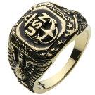 ブラスアクセサリーリング・指輪ネイビーカレッジリングr7002