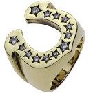 ブラスアクセサリーリング・指輪ジルコニア馬蹄リングr7006