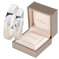Elena(エレナ)ペアリング指輪フリーサイズシルバーForeverLoveレディースメンズCZダイヤ(キュービックジルコニア)専用BOX付き
