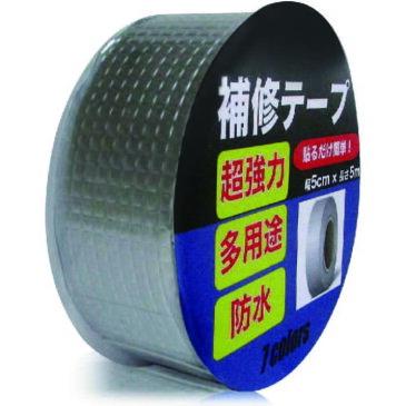 7colors 補修テープ ブチルテープ 補強 防水 強力 粘着 水漏れ 屋外 耐熱 雨漏り 配管 コンクリート テント ブチルテープ シーラントテープ 50mm (幅5cm×長さ5m)