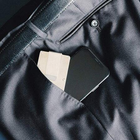 Regaloマネークリップカードケース大容量12枚収納持ち運び便利
