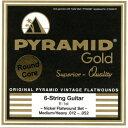 Pyramid Strings Pyramid Strings 《ピラミッド・ストリングス》 EG-Gold .012-.052 chrome-nickel flatwounds on round core [商品番…